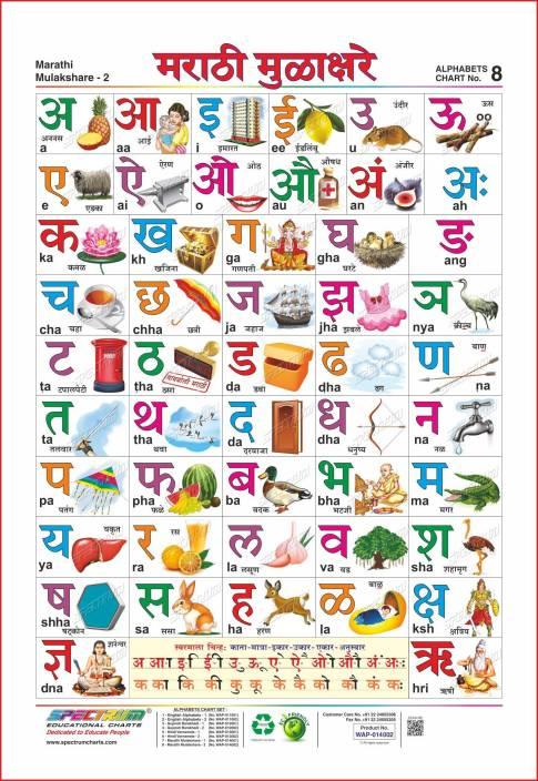 Spectrum Marathi Mulakshare (मराठी मुळाक्षरे) Price in ...