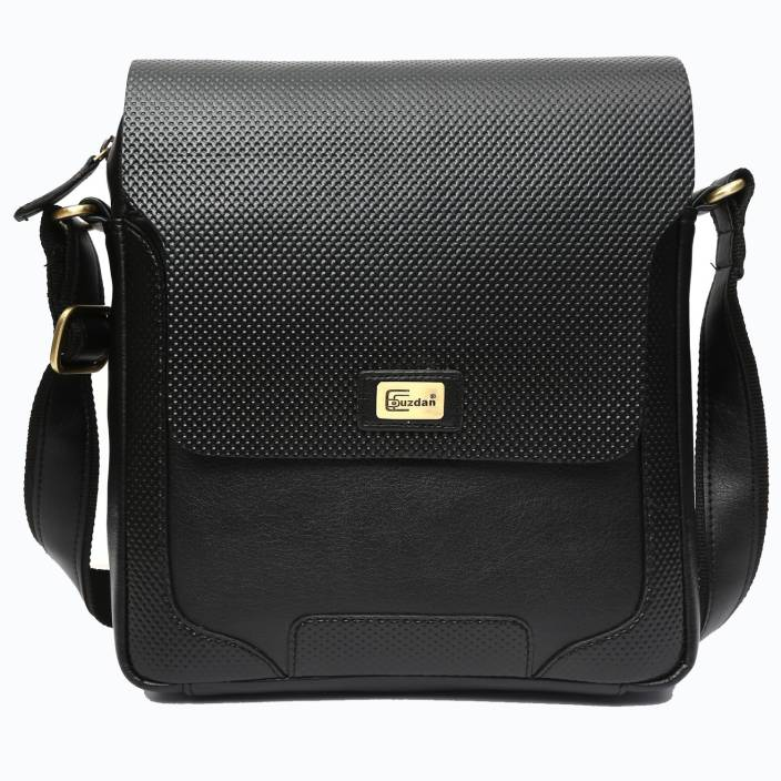 Cuzdan Men Black Leatherette Sling Bag Black - Price in India ...