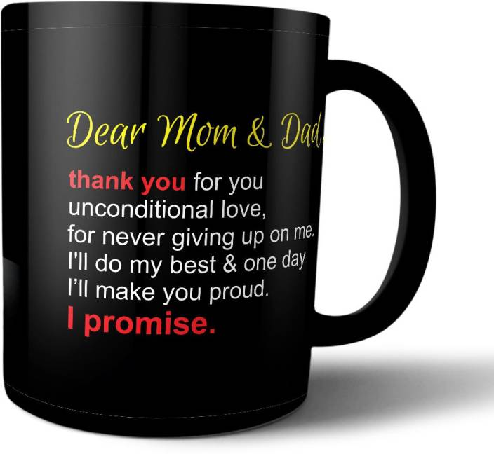 Printpops Gift For Mom Dad Fathers Day Mothers Birthday Anniversary With Beautiful Quote Ceramic Mug 330 Ml