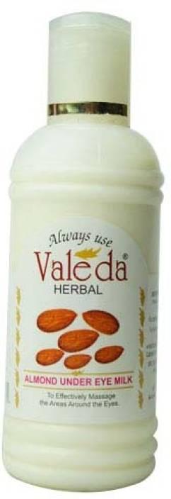 Valeda Herbal Almond Under Eye Milk - 2 Drops Daily to Cure Tired Sunken Eyes - Doctors Formula since 32 Years