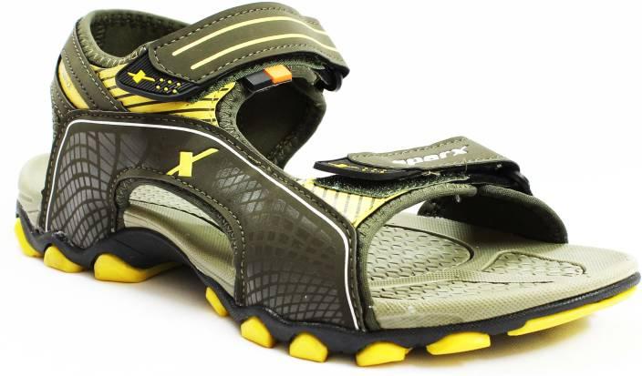 Sparx Men OLIVE YELLOW Sandals