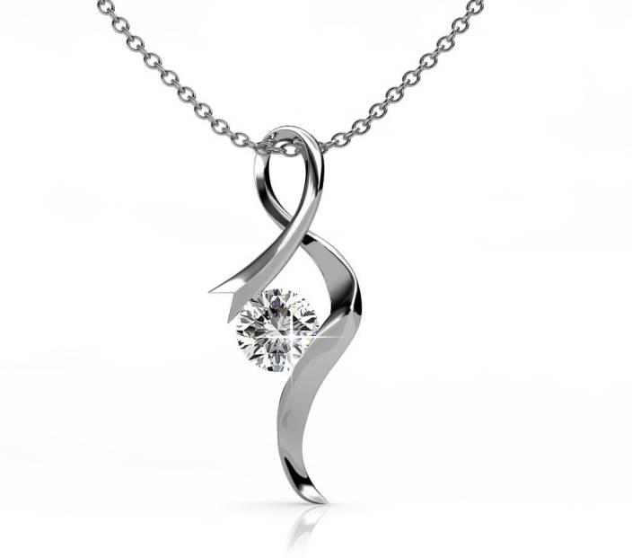 Zevrr platinum swarovski crystal sterling silver pendant price in zevrr platinum swarovski crystal sterling silver pendant aloadofball Images