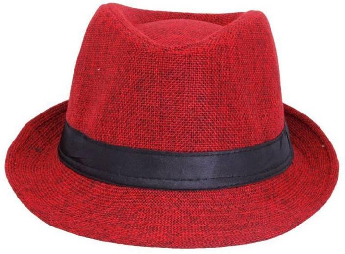faas Fedora Hat Summer Gift For Boys   Girls Age 3 To 7 yrs Kids Cap (Red) ef28fbc772a