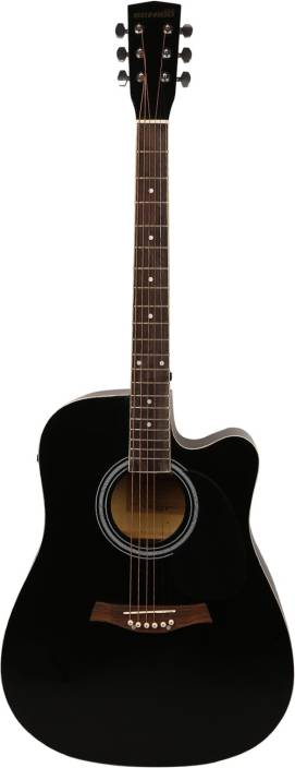 Sonido SON-SMEC105-BLK Linden Wood Acoustic Guitar