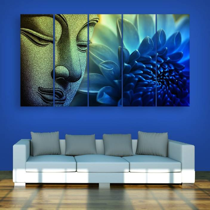 87c045baf521 Inephos Multiple Frames Buddha Beautiful Wall Painting Digital Reprint 30  inch x 52 inch Painting Price in India - Buy Inephos Multiple Frames Buddha  ...