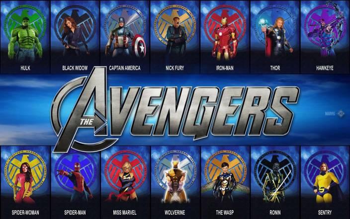 46ff2d826e52 Comics Avengers The Avengers Marvel Iron Man Ms. Marvel Hulk Black Widow  Captain America Nick