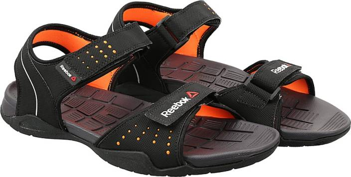 ba130c809f6 REEBOK Men BLACK ORANGE MET SIL GRY Sports Sandals - Buy BLACK ORANGE MET  SIL GRY Color REEBOK Men BLACK ORANGE MET SIL GRY Sports Sandals Online at  Best ...