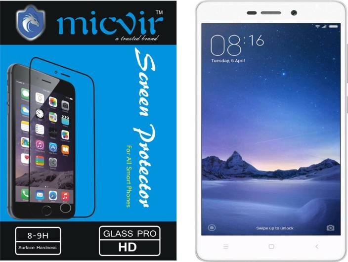 Micvir Tempered Glass Guard for Xiaomi Redmi 3s
