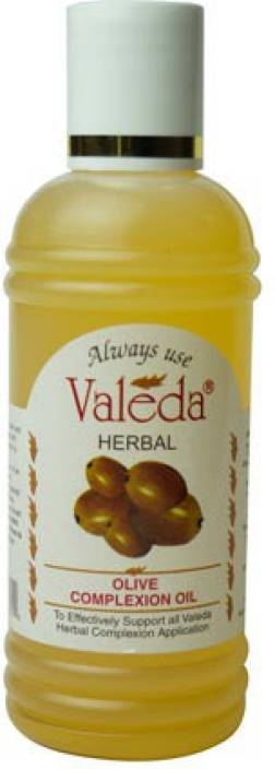 Valeda Herbal Olive Complexion Oil with 'Lemon' and 'Almond' - Clinically Recommended Product for Enhancing Skin Tone