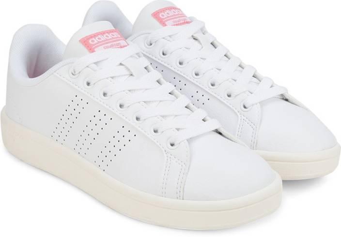 ... White   Blue BB9821 Adidas Neo CLOUDFOAM ADVANTAGE CLEAN W Sneakers ... 00fab5392