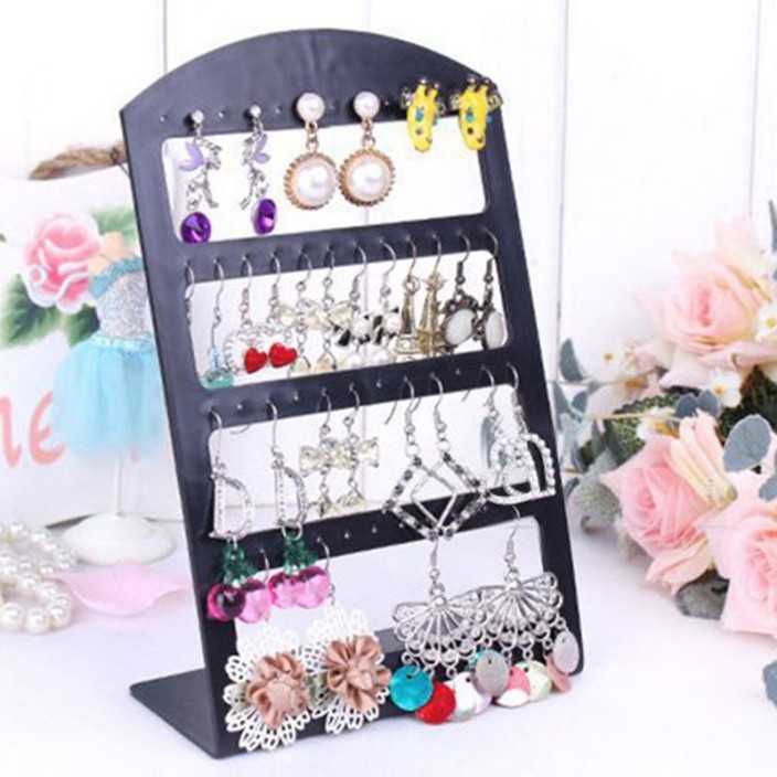 DIY Crafts Jewelry Organizer Stand Plastic Earring Holder Fashion