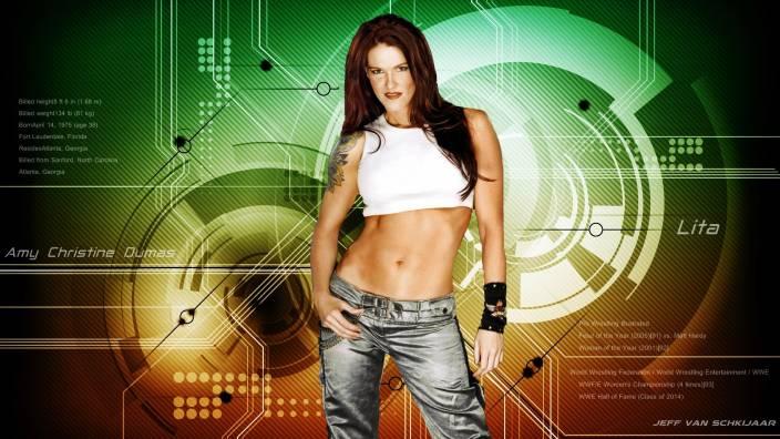 Sports Wwe Lita WWE HD Wall Poster Paper Print