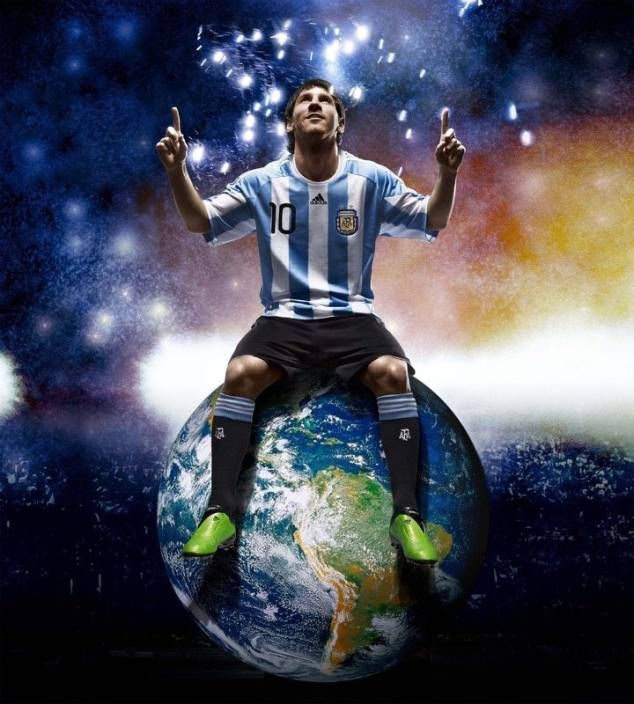Lionel Messi ON FINE ART PAPER HD QUALITY WALLPAPER POSTER Fine Art Print (19 inch X 13 inch, Rolled)