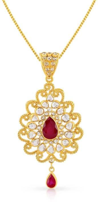 b384e9c84 Malabar Gold and Diamonds Era Uncut 22kt Diamond Yellow Gold Pendant Price  in India - Buy Malabar Gold and Diamonds Era Uncut 22kt Diamond Yellow Gold  ...