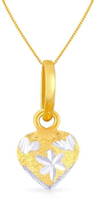 Malabar Gold and Diamonds Malabar 22kt Diamond Yellow Gold Pendant