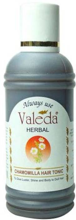 Valeda Herbal Chamomilla Hair Tonic - To Give Luster, Shine & Body to Dull Hair - Trusted by Doctors