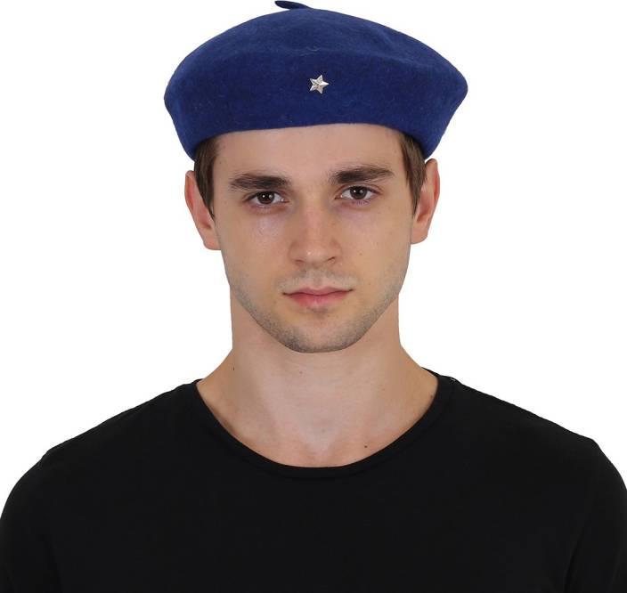 Neon Rock Solid NR Unisex French Beret Cap, Traditional Army Style Cap,  Classic European Hat, Woolen Beret Cap, Che Guevara Cap (C0082) Cap
