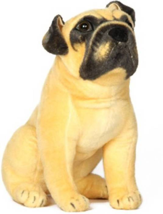CraftSmith Soft Toy Stuffed Pug Sitting Dog - 40 cm
