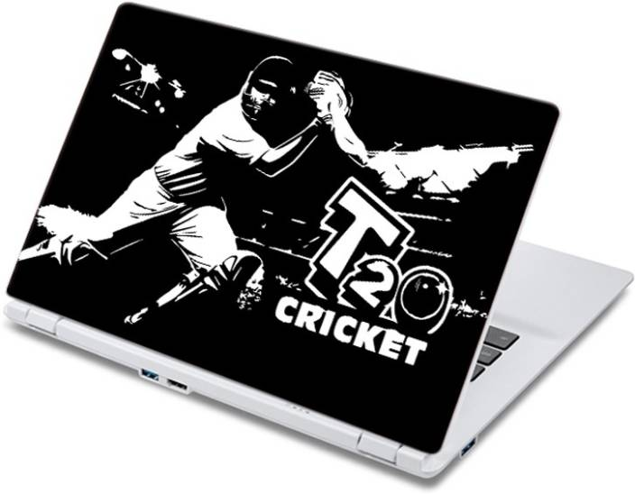 ezyPRNT Cover Drive at its Best - T20 Cricket (14 to 14.9 inch) Vinyl Laptop Decal 14