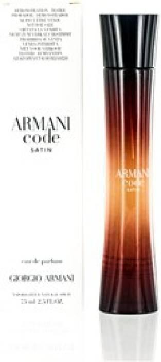 Buy Giorgio Armani Code Satin 1 Edp 2.5 Oz(W)Edp Eau de Parfum - 75 ... 100a7db202b15