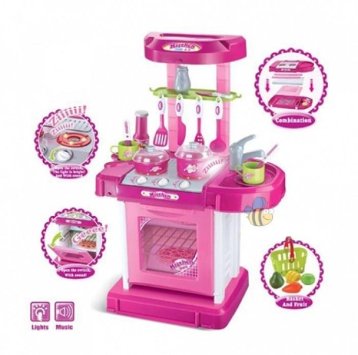 Saffire Kitchen Set Kids Luxury Battery Operated Kitchen Super Toy Set,