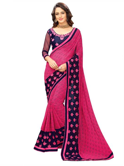 onlinefayda Printed Fashion Georgette Saree