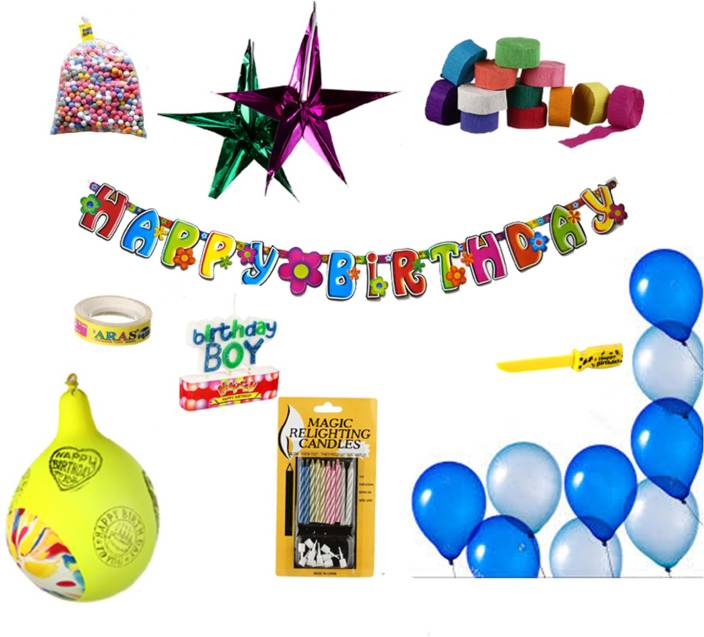 NHR Special Birthday Decoration Kit For Boy 132 Pieces