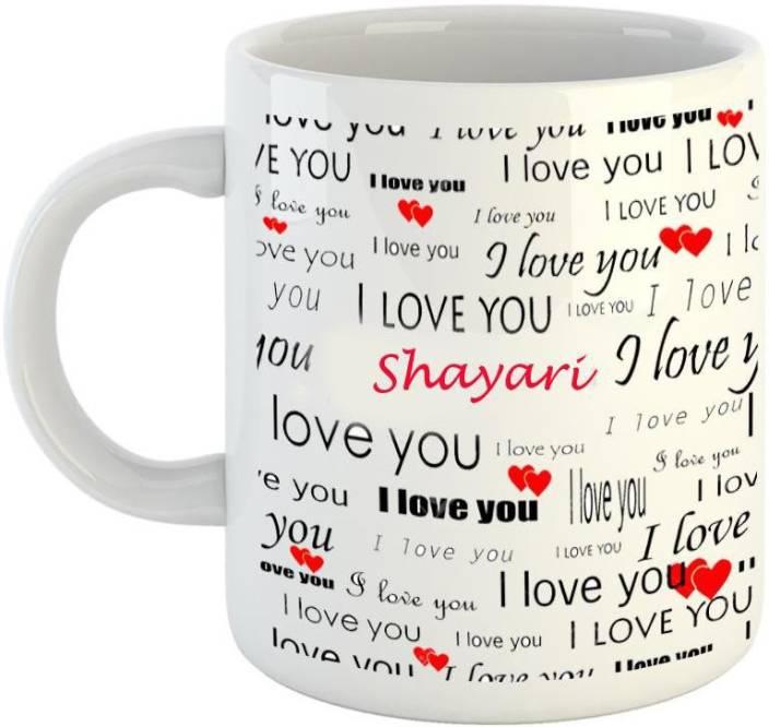 emerald love you white ceramic i love you shayari ceramic mug price