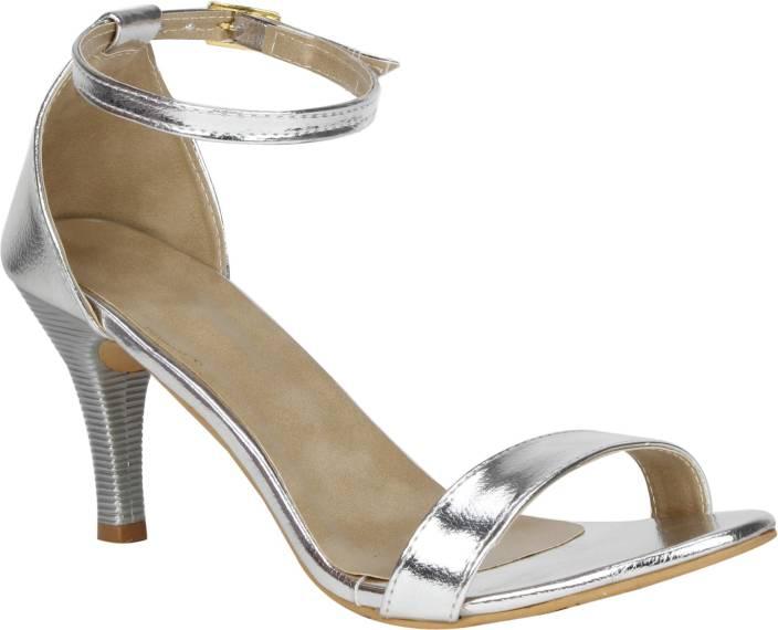 VAGON Women SILVER Heels - Buy VAGON Women SILVER Heels Online at ...