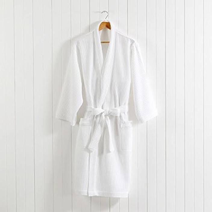 c5ebac023c Linenwalas White Free Size Bath Robe - Buy Linenwalas White Free ...