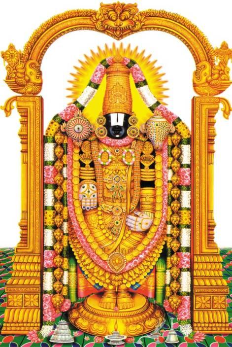 Lord Venkateswara Swamy Paper Print Religious Posters In