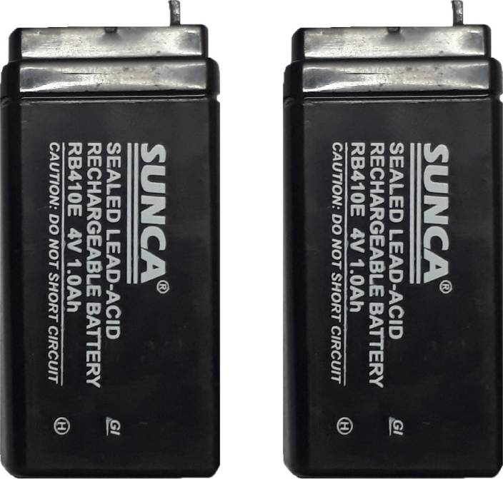 sunca 4 volts 1 ah piece 2 rechargeable lead acid battery sunca. Black Bedroom Furniture Sets. Home Design Ideas