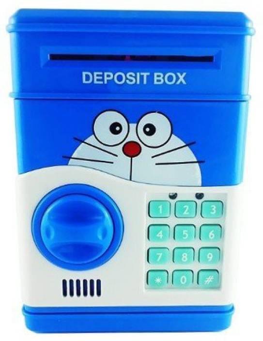 Bubble Hut Doremon Electronic Piggy Bank Money Locker Atm Coin
