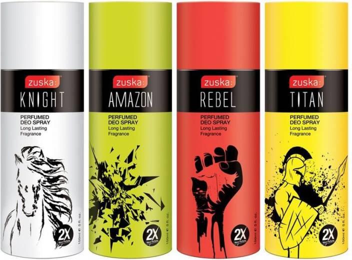 Zuska Perfumed Deo (12 units each fragrance) Deodorant Spray  -  For Men & Women