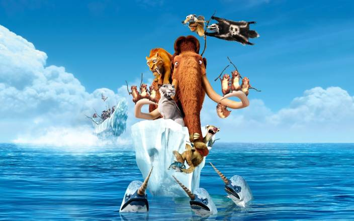 Akhuratha Poster Movie Ice Age: Continental Drift Ice Age HD Wallpaper Background Fine Art Print