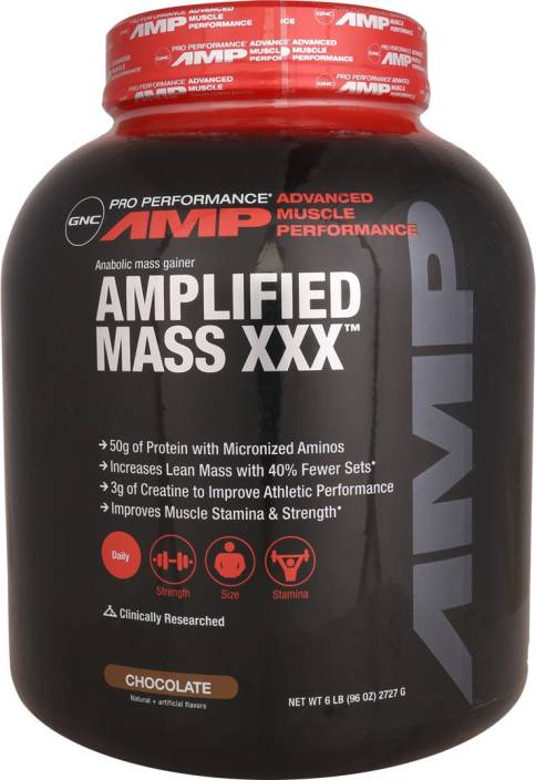 Gnc Amp Mass Gainer Powder Chocolate Flavor 6 1lb Weight Gainers Mass Gainers
