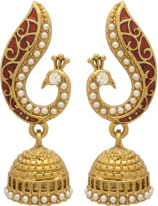 Voylla Artificial Classic Textured Alloy Jhumki Earring