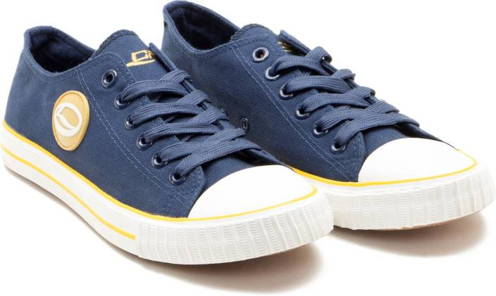 b8b4fed60e Lancer Canvas Shoes For Men - Buy Navy/Yellow Color Lancer Canvas ...