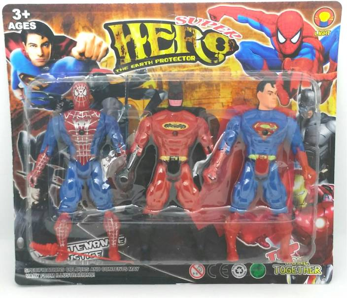 Swell Halo Nation Super Hero Action Figures 3 Pcs Set Spiderman Evergreenethics Interior Chair Design Evergreenethicsorg