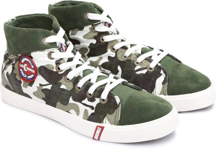 Lee Cooper Canvas High Ankle Sneakers For Men