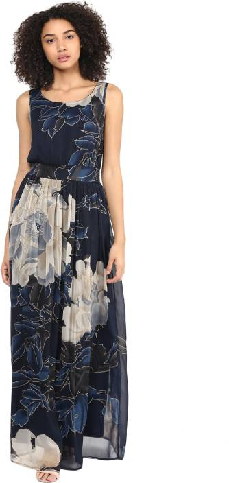 8895fd4c289 Harpa Women s Maxi Dark Blue Dress - Buy Harpa Women s Maxi Dark ...