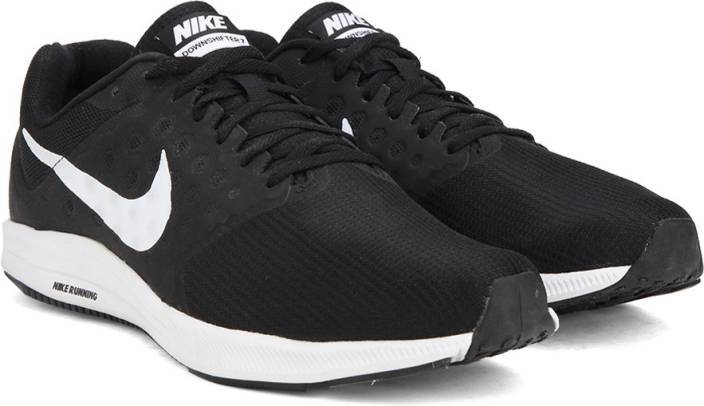 90288b9329ff Nike DOWNSHIFTER 7 Running Shoes For Men - Buy BLACK   WHITE ...