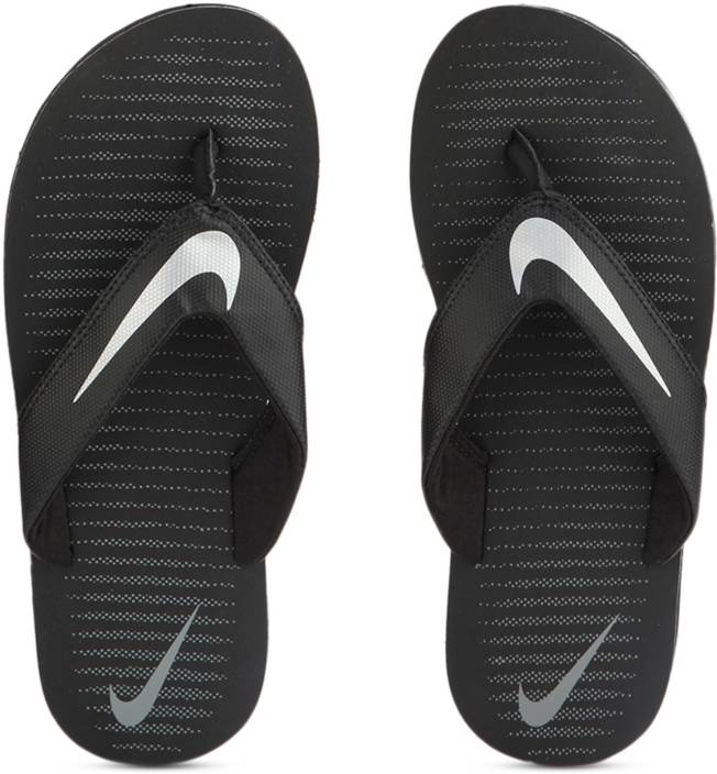 176cfb0aeceb12 Nike CHROMA THONG 5 Slippers - Buy BLACK   CHROME - COOL GREY Color Nike  CHROMA THONG 5 Slippers Online at Best Price - Shop Online for Footwears in  India ...