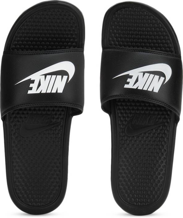 323b2dae130e Nike BENASSI JDI Slides - Buy BLACK WHITE NOIR BLANC Color Nike BENASSI JDI  Slides Online at Best Price - Shop Online for Footwears in India