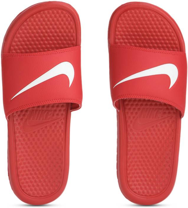 d614151563870a Nike BENASSI SWOOSH Slides - Buy UNIVERSITY RED WHITE UNIVERSITE  ROUGE BLANC Color Nike BENASSI SWOOSH Slides Online at Best Price - Shop  Online for ...