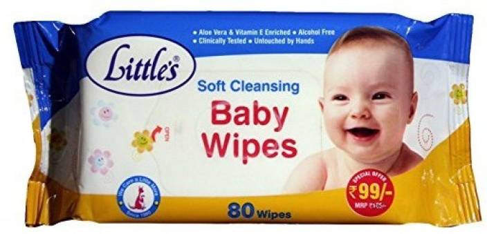 Littles Baby Cotton Wipes