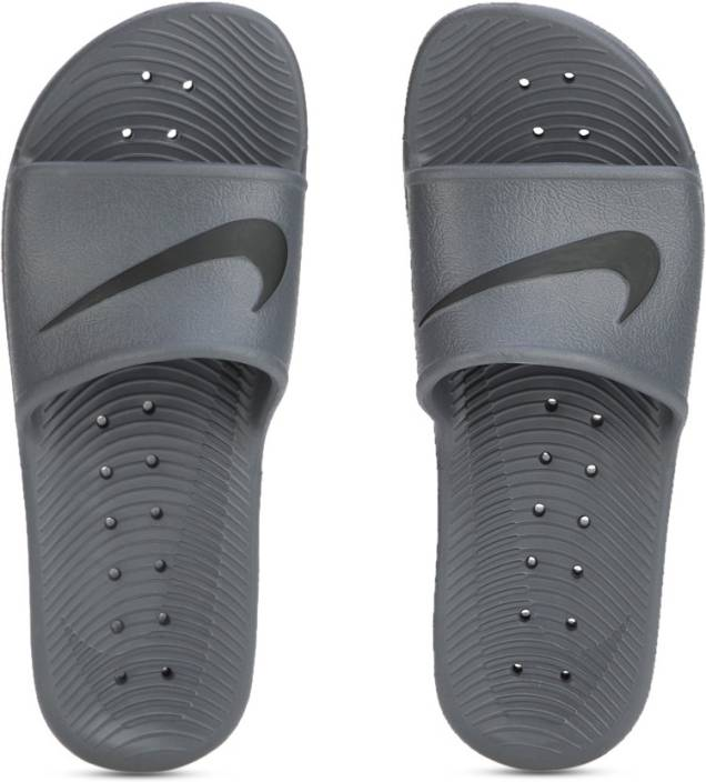 a502fd5412e7 Nike KAWA SHOWER Slides - Buy DARK GREY BLACK Color Nike KAWA SHOWER Slides  Online at Best Price - Shop Online for Footwears in India