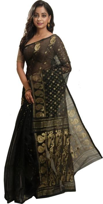 ffc470f151a83 Avik Creations Paisley Jamdani Handloom Silk
