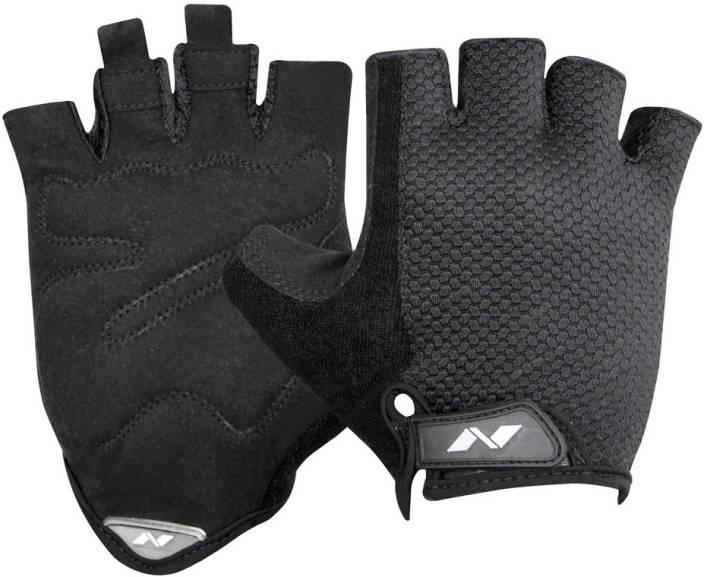 Nivia Python Gym & Fitness Gloves (XL, Black)