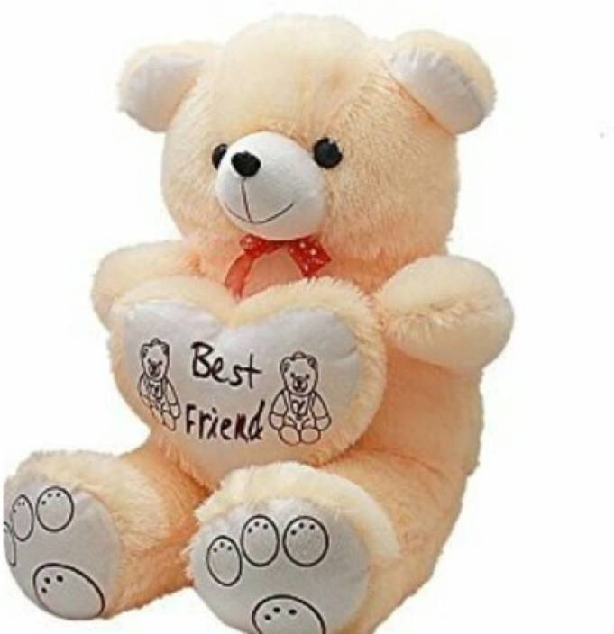 Ansh Soft Toy Best Friend Cream Teddybear  - 70 cm